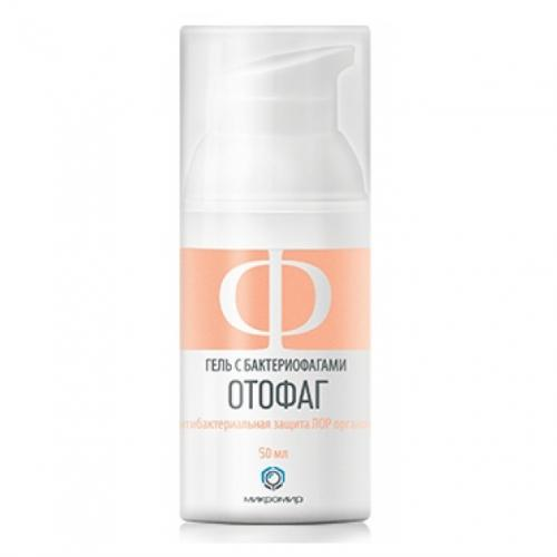 Otophage gel with bacteriophages for auricular skin hygiene, 50ml