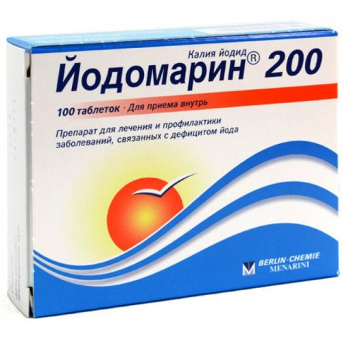 Iodomarin 200, 0,2 mg  N100 tab (treatment and prevention of diseases of the thyroid gland)