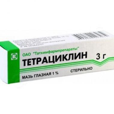 Tetracycline Eye ointment  1% 3g